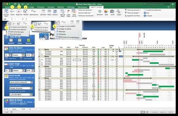 Gantt Chart Maker PRO (FR)