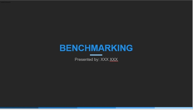 Blue Dark Powerpoint Benchmarking Zipped (For Dwight Steigerwald)