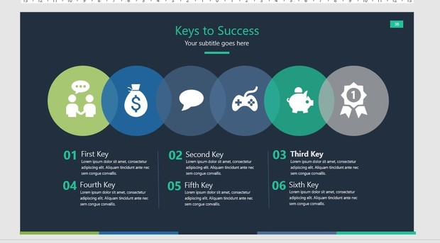 Colored Dark Powerpoint (PPT)