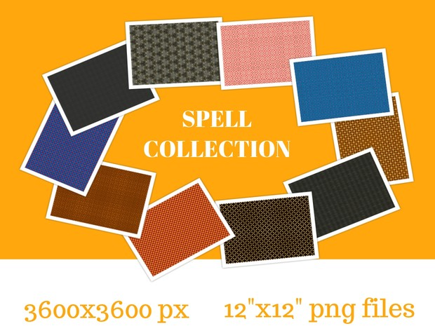 The Spell Collection-digital seamless patterned paper-png files-small  commercial use allowed