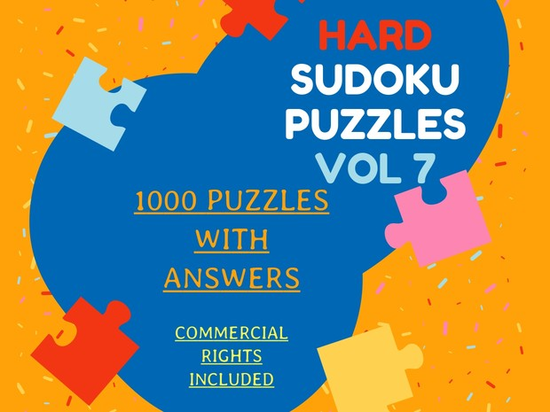1000 hard sudoku puzzles with answers volume 7-pdf files-COMMERCIAL USE  ALLOWED-8 5