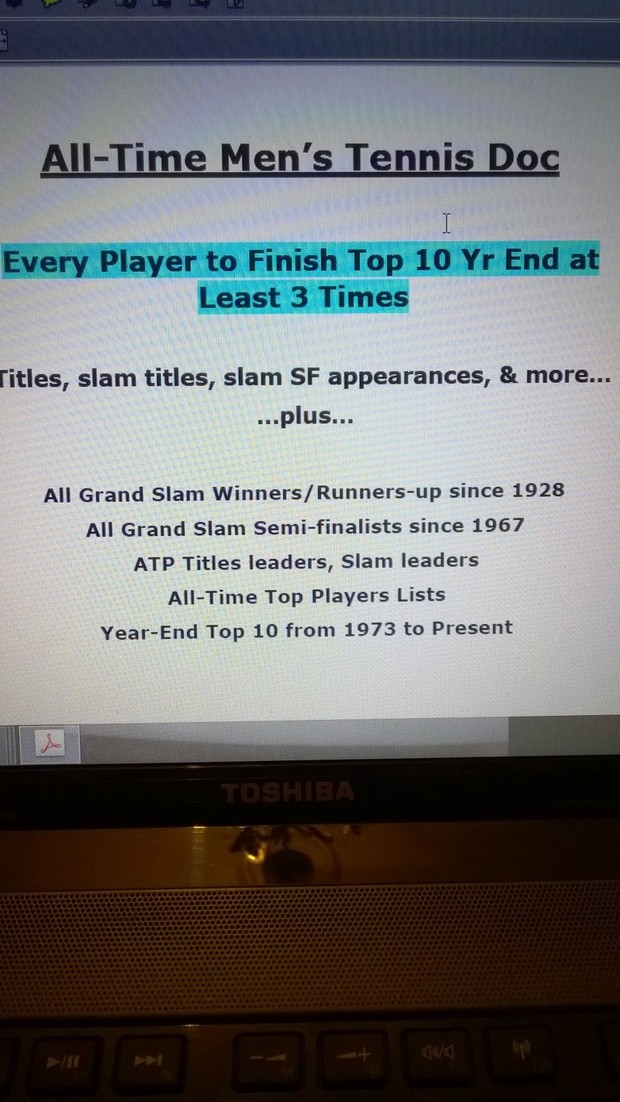 Speedburner All-Time ATP Tennis Stats