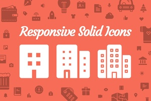 Responsive Solid Icons