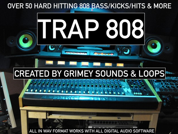 OVER 50 TRAP 808 BASS SAMPLES (GRIMEY SOUNDS & LOOPS) PLUS BONUS PACK WITH  50 MORE SAMPLES