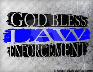 God Bless Law Enforcement - printable, vector, svg, art