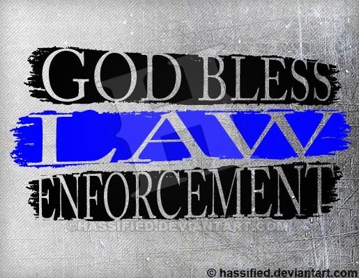 God Bless Law Enforcement - printable, vector, svg, art