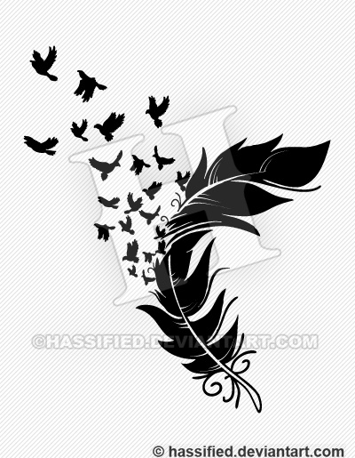 picture about Feather Printable named Birds towards a Feather - printable, vector, svg, artwork