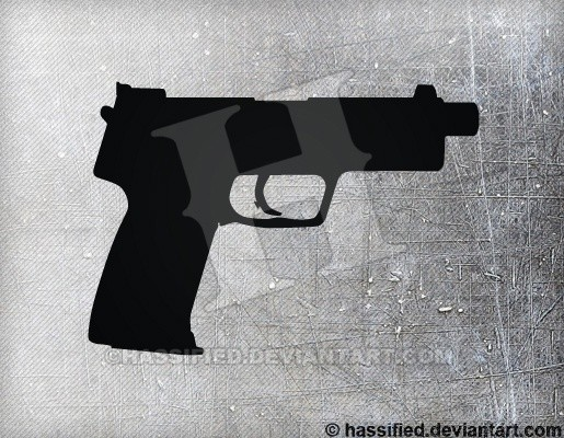HK USP Tactical - printable, vector, svg, art