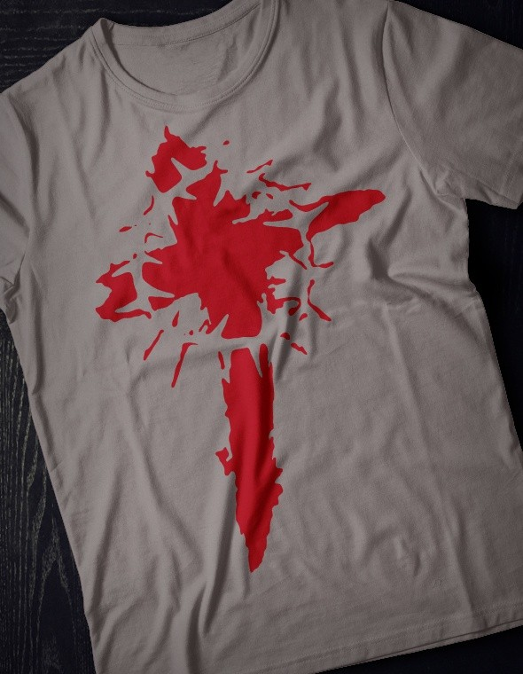 Blood Cross - printable, vector, svg, art