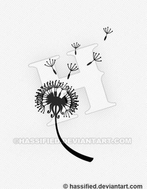 Blowing Dandelion - Printable vector, eps, svg, jpeg