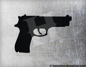 Beretta 92FS - printable, vector, svg, art