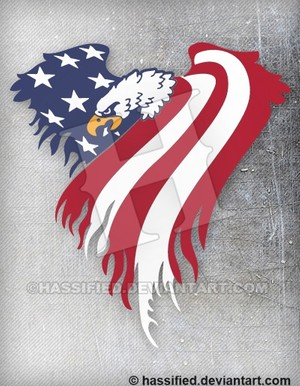 American Eagle Flag - printable, vector, svg, art