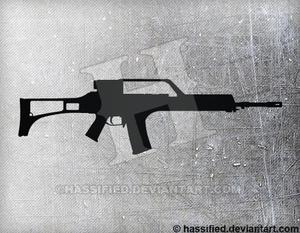 HK G36 - printable, vector, svg, art