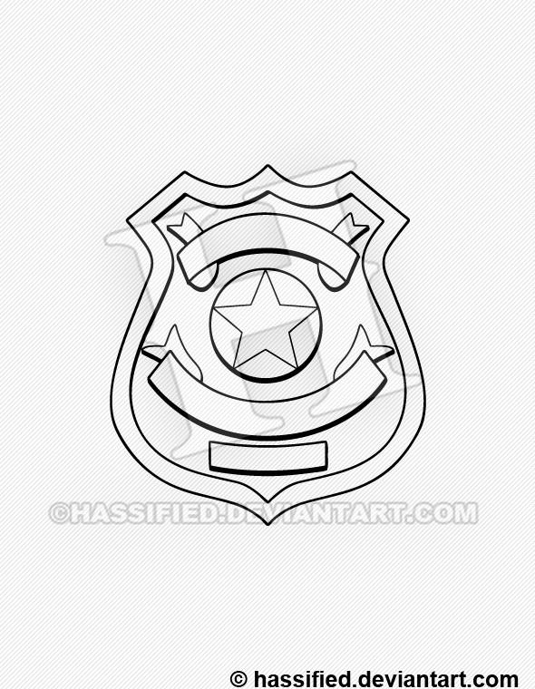 Police Badge 1 - printable, vector, svg, art