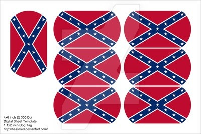 Confederate Dog Tags