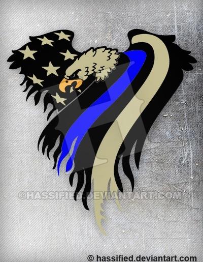 Law Enforcement Eagle Flag