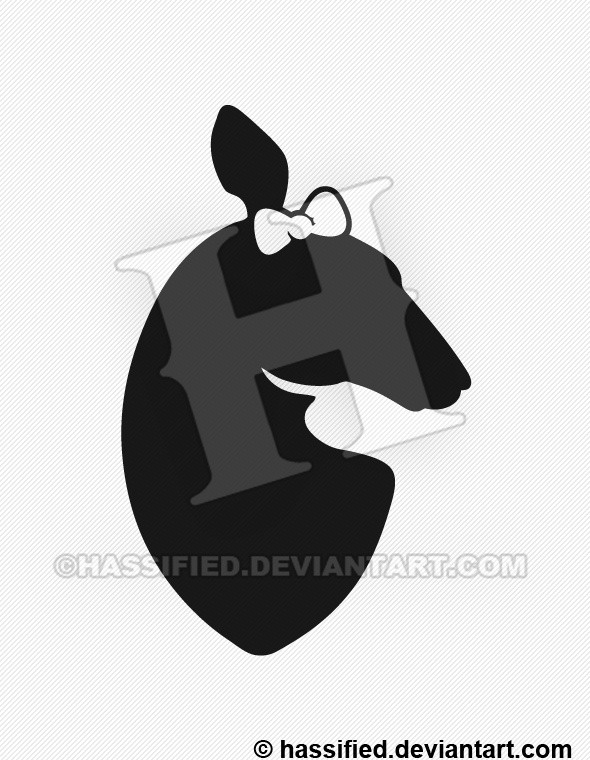 Deer Head Silhouette - printable, vector, svg, art