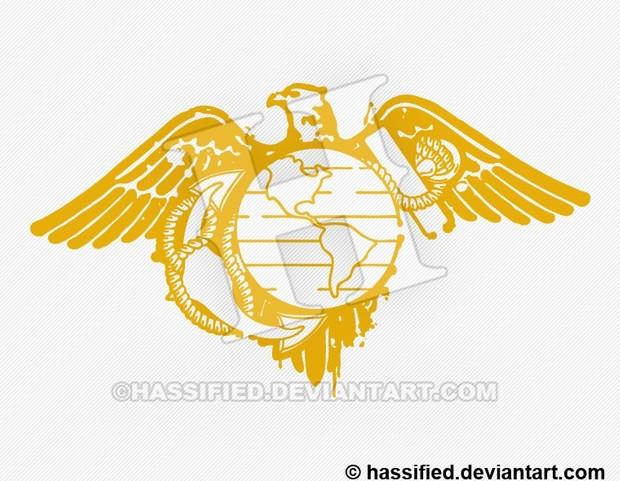 Stenciled Marine Eagle - printable, vector, svg, art