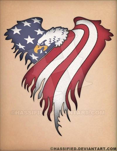 American Eagle Flag - printable, vector, svg, art