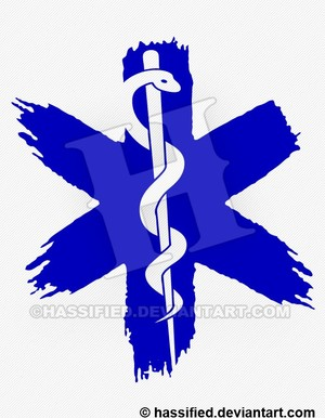 Star of Life, Paint - printable, vector, svg, art