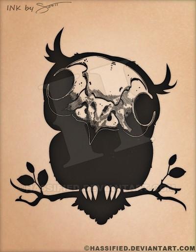 Owl Skull - printable, vector, svg, art