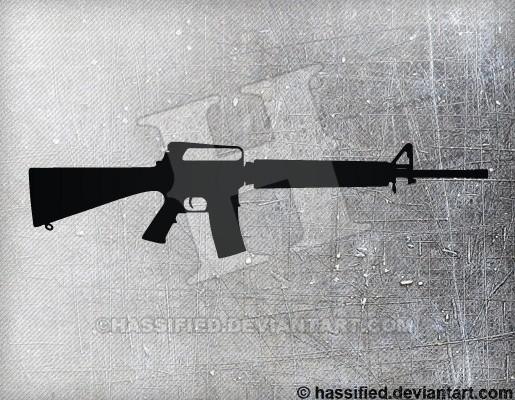 M16 A2 - printable, vector, svg, art