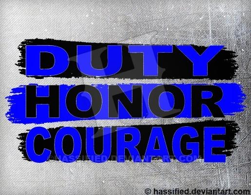 Duty Honor Courage - printable, vector, svg, art