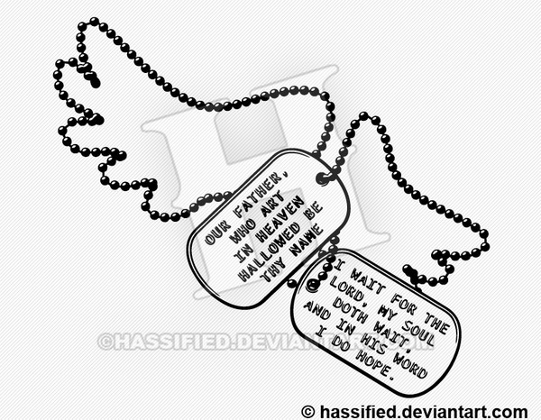 Dog Tag Prayer - printable, vector, svg, art