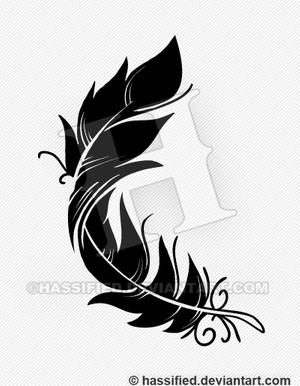 Feather Design - printable, vector, svg, art