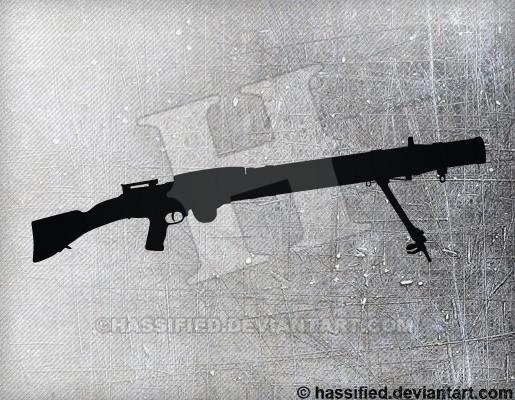 Lewis Machine Gun - printable, vector, svg, art