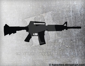 AR-15 - printable, vector, svg, art