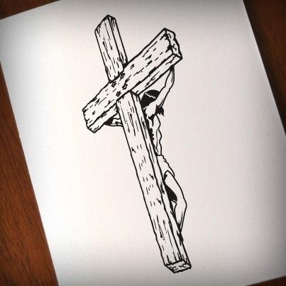 Jesus on the Cross  - printable, vector, svg, art