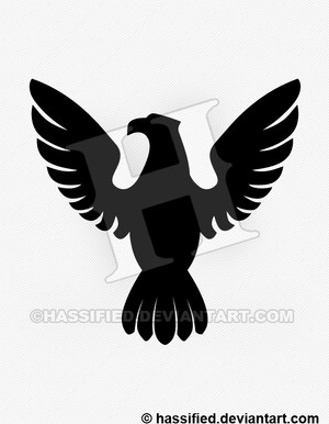 Eagle Silhouette 2 - printable, vector, svg, art