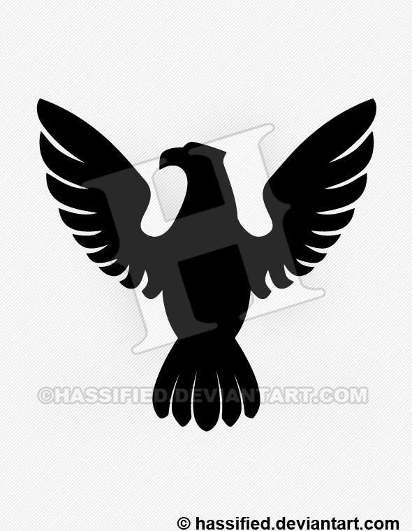 Eagle Silhouette 2 - printable, vector, svg, art