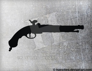 Musket Pistol - printable, vector, svg, art
