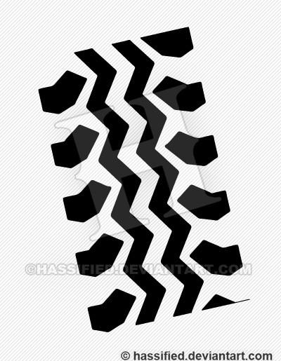 Tire Track Pattern - printable, vector, svg, art
