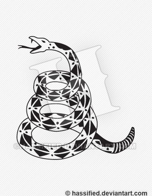 Gadsden Snake - printable, vector, svg, art