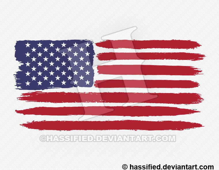photograph regarding United States Flag Printable referred to as Brushed American Flag - printable, vector, svg, artwork