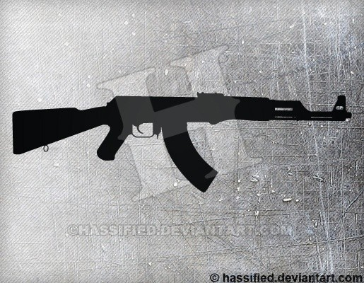 AK47 - printable, vector, svg, art
