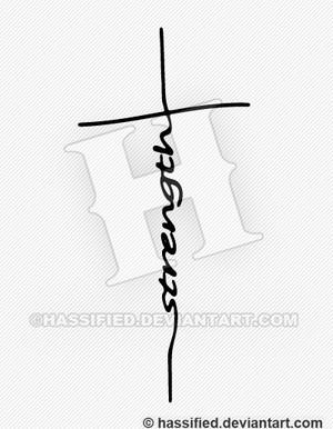 Strength Cross - printable, vector, svg, art