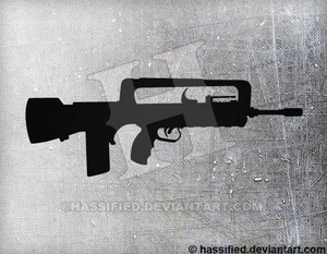 FAMAS F1 - printable, vector, svg, art