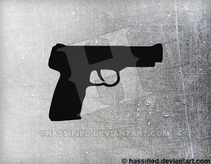 FN Five Seven - printable, vector, svg, art