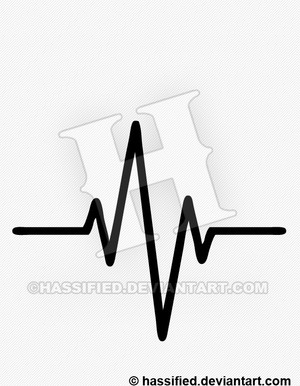 Heartbeat - printable, vector, svg, art