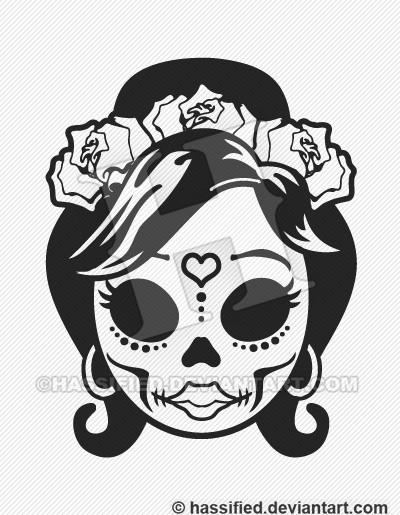 Mexican Sugar Skull - Printable vector, eps, svg, jpeg