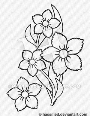 Tropical Flowers - printable, vector, eps, svg, jpeg