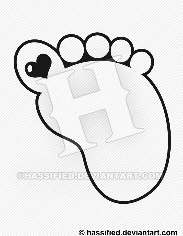 photo about Footprint Printable identify Kid Footprint - printable, vector, svg, artwork