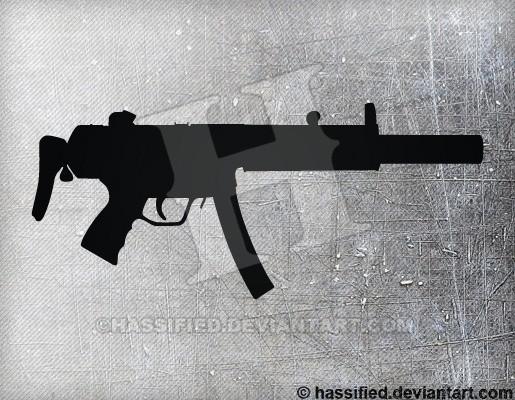 MP5SD - printable, vector, svg, art