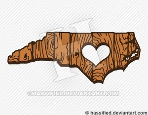 North Carolina Love - printable, vector, svg, art