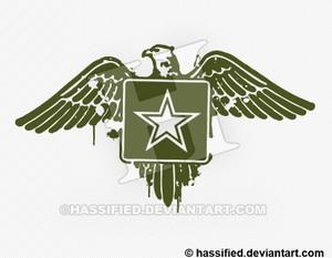 Stenciled Army Eagle- printable, vector, svg, art