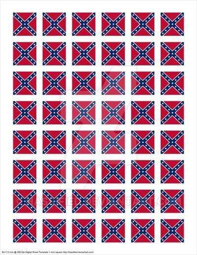 1 Inch Square Confederate